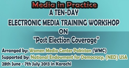 A TEN-DAY ELECTRONIC MEDIA TRAINING WORKSHOP