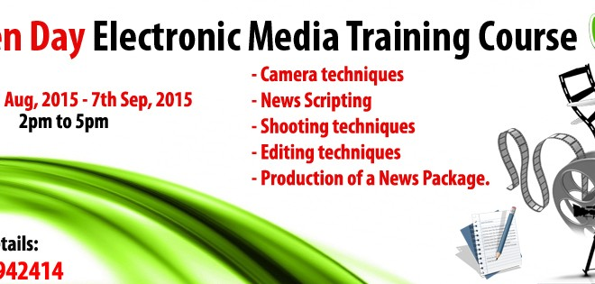 Ten-day Electronic Media Training Course