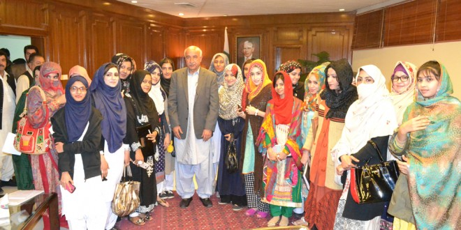 WOMEN JOURNALISTS AND MEDIA STUDENTS IN QUETTA VISITS ASSEMBLY ON BEHALF OF WOMEN MEDIA CENTER,  PAKISTAN.