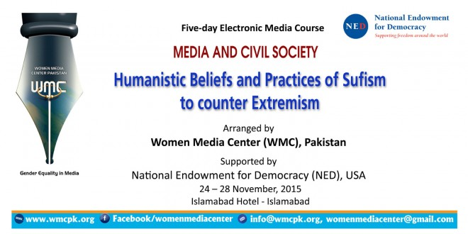 "Five-day Electronic Media Course ""Humanistic Beliefs and Practices of Sufism  to counter Extremism"""