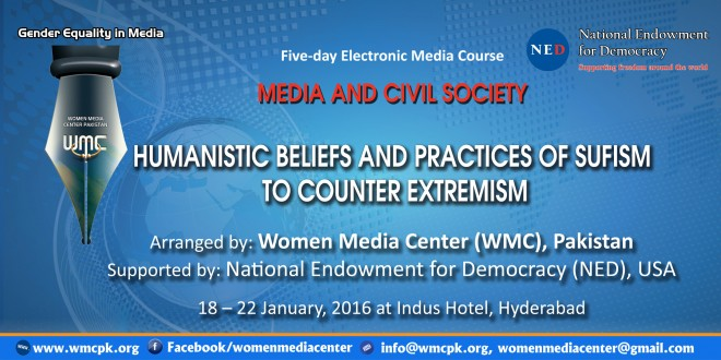 """Five-day Electronic Media Course """"Humanistic Beliefs and Practices of Sufism to counter Extremism"""""""