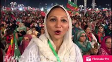 PTI's supporter giving her opinion about the upcoming election.
