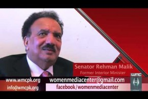 Former Interior Minister Senator Rehman Malik advocating training of women journalists and their significance in the society