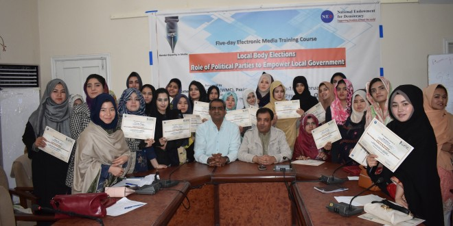 """Five-Day Electronic Media Training Workshop on the topic  """"LOCAL BODY ELECTIONS- ROLE OF POLITICAL PARTIES TO EMPOWER LOCAL GOVERNMENT"""""""