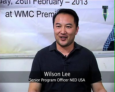 Wilson Lee (Senior Program Officer NED USA)