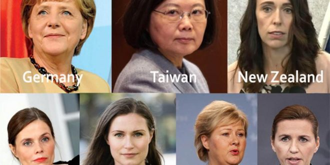 How well did the female leaders respond to the COVID-19 pandemic?