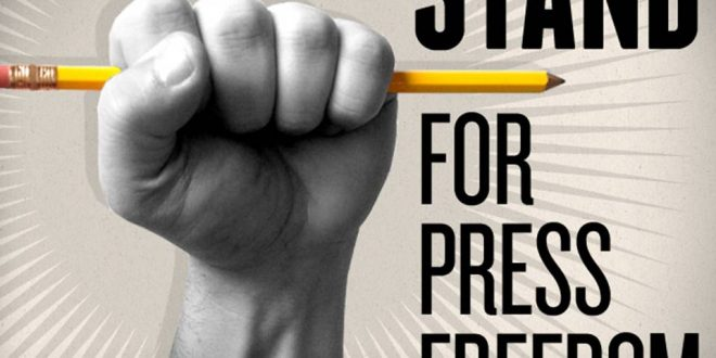 Fighting for one's right to write and speak
